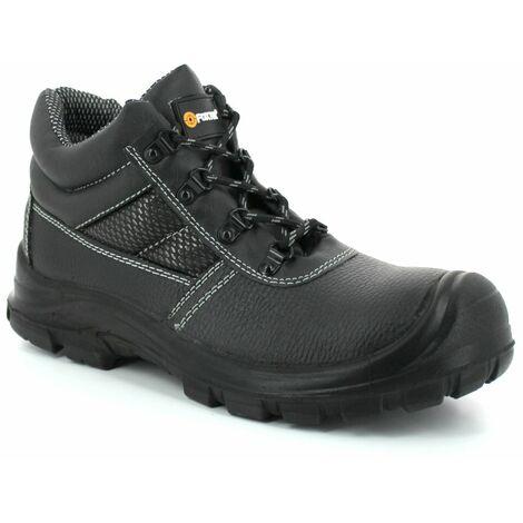 """main image of """"Foxter - Chaussures de sécurité   Mixte : Hommes et Femmes   Montantes   Respirantes   Imperméable   Cuir Noir   S3 SRC"""""""