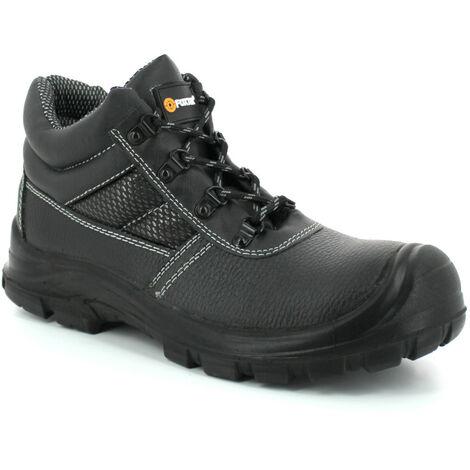 Foxter - Chaussures de sécurité   Mixte : Hommes et Femmes   Montantes   Respirantes   Imperméable   Cuir Noir   S3 SRC