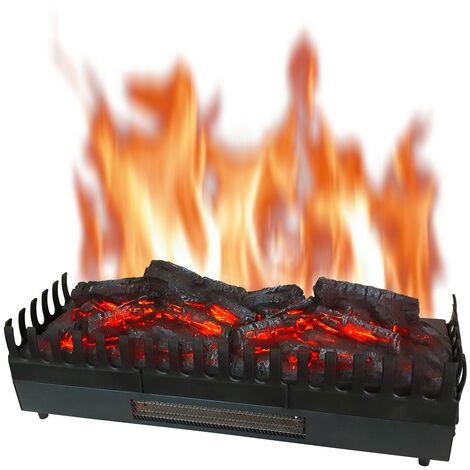 Foyer à buches avec effet flammes et chauffage XL