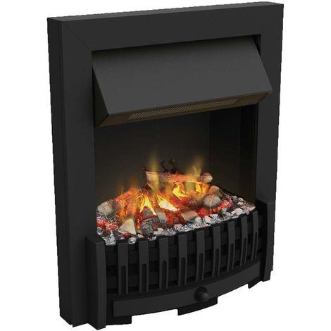 Foyer de cheminée électrique encastrable optimyst effet fumée Danville Noir - Noir