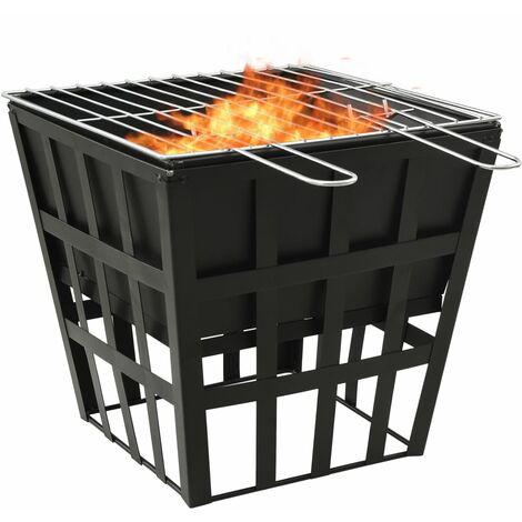 Foyer et barbecue 2 en 1 34x34x48 cm Acier7296-A