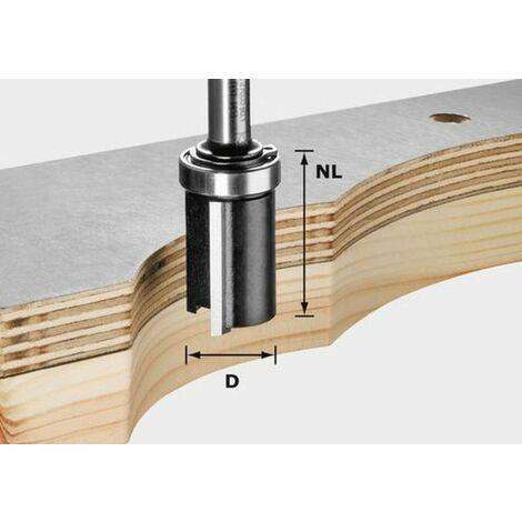 Fraise à affleurer HW avec queue de 8mm FESTOOL HW S8 D19/NL25 - 491028