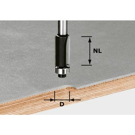 Fraise à affleurer HW avec queue de 8mm HW S8 D12,7/NL25