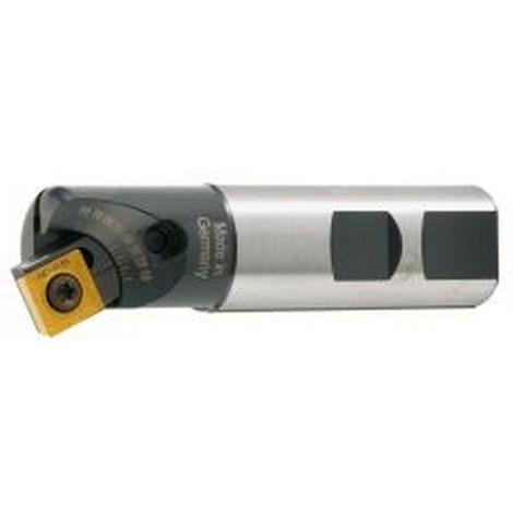 Fraise à chanfreiner 10 à 80°, à arrosage central, Ø D : 25 mm, Nombre de dents 1, Plaquette SCMT/SCGT 1204...
