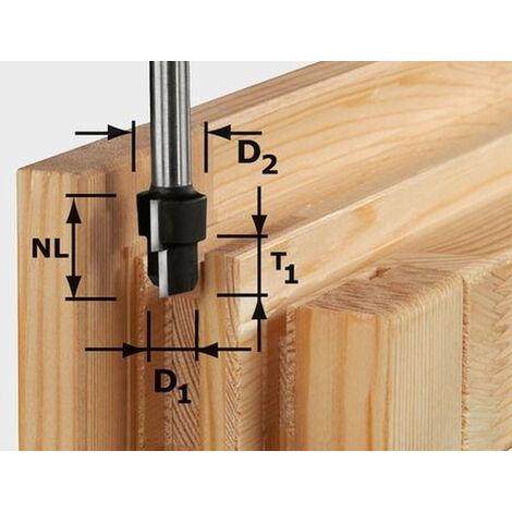 Fraise à chanfreiner HW avec queue de 12 mm FESTOOL HW D16,3/12,3/9,3 S12 - 492713