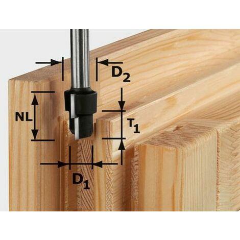 Fraise à chanfreiner HW avec queue de 12 mm HW D16,3/12,3/9,3 S12