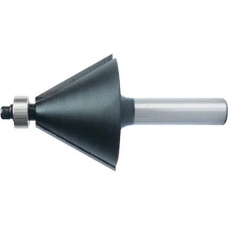 Fraise à chanfreiner, outil à bois, Ø : 32 mm, Angle 45° °, Long. utile 15 mm, Long. totale : 56 mm