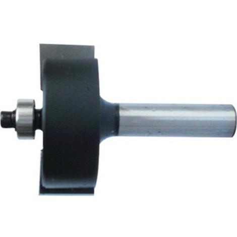 Fraise à feuillurer, outil à bois, Ø : 22,2 mm, Long. utile 12,7 mm, Long. totale 54 mm