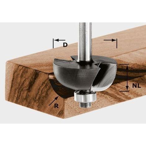 Fraise à gorge creuse HW avec queue de 8mm FESTOOL HW S8 D28,7/R8 KL - 491019