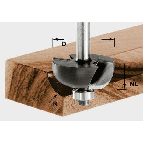 Fraise à gorge creuse HW avec queue de 8mm HW S8 D38,1/R12,7 KL