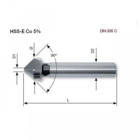 Fraise à noyer 90° ASR Co5 6.3 mm Kraftwerk 18210 16.99