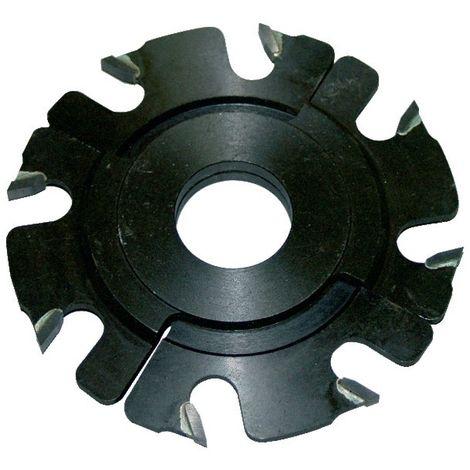 Fraise à rainer carbure 8 coupes Ø120 extensible 5 à 10 mm pour toupie arbre de 30 mm