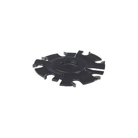 Fraise à rainer carbure 8 coupes Ø150 extensible 5 à 10 mm pour toupie arbre de 30 mm