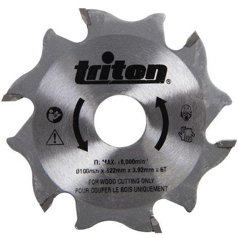 Fraise à rainer carbure pour assemblage lamello - 6 dents alésage 22 mm