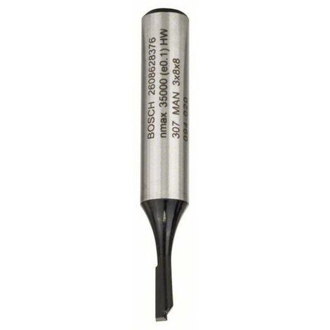 Fraise à rainurer 8 mm, D1 3 mm, L 8 mm, G 51 mm Bosch 2608628376