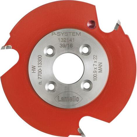 Fraise à rainurer P-System MD LAMELLO 100.9 x 7 x 22 mm pour ZETA - 132141