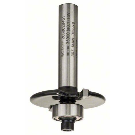 Fraise à rainurer pour charnières, 8 mm, D1 32 mm, L 3 mm, G 51 mm Bosch 2608628401