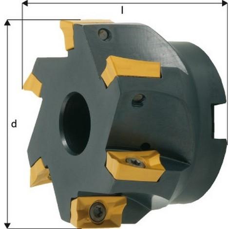 Fraise à surfacer-dresser à 90° à arrosage central APKT 1604, Ø d : 80 mm, Nombre de dents 7, Ø du perçage de positionnement 27 mm, Dimensions l : 50 mm