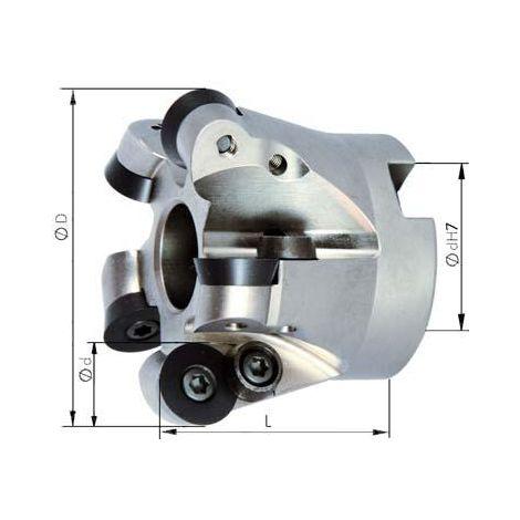 Fraise alésage lisse D7 arrosage central D80x27mm pour type RD 1 PCS