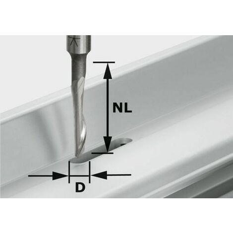 Fraise aluminium HS avec queue de 8mm HS S8 D5/NL23