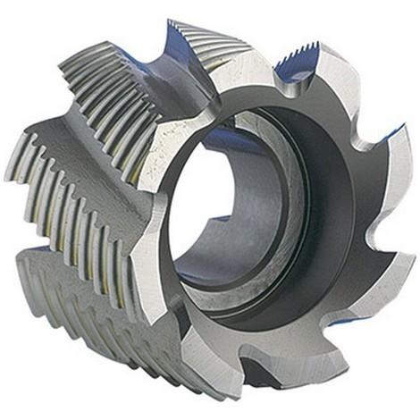 Fraise cylindrique en bout, type NR, en acier à coupe rapide à 5% de cobalt, sans revêtement, Ø x Larg. : d1 - js14 x b1 - k16 : 50 x 36 mm
