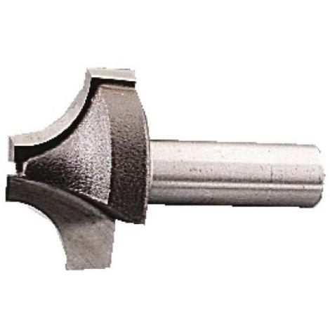 Fraise de défonceuse carbure profils 1/4 rond, queue 8 mm, diamètre 23 mm
