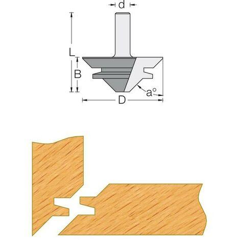 Fraise de défonceuse Q12 pour bouvetage d'angle à 45°