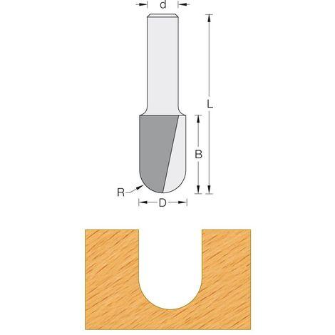 Fraise de défonceuse Q12 - Profil gouge R4,75