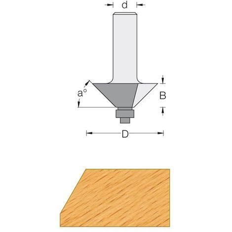 Fraise de défonceuse Q6 - Chanfreiner angle 25°