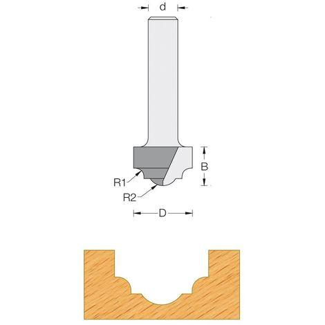 Fraise de défonceuse Q6 - Moulure décorative Ø 19 - R4
