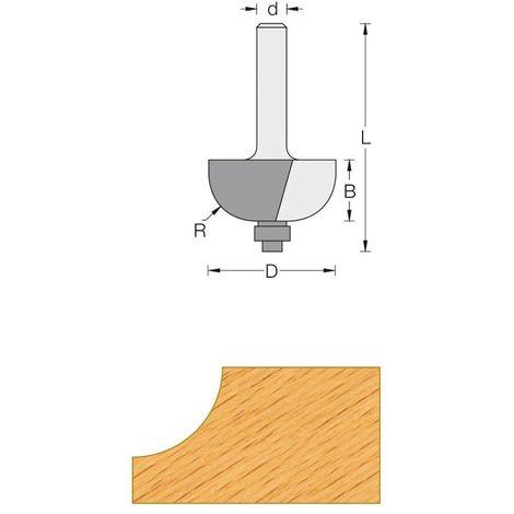 Fraise de défonceuse Q6 - Profil congé R4.75 mm