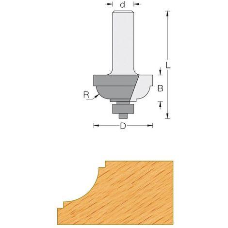 Fraise de défonceuse Q8 - Moulure décorative Ø 25.4 - R4.8
