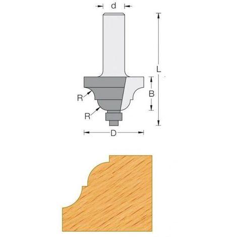 Fraise de défonceuse Q8 - Moulure décorative Ø 33.4 - R4