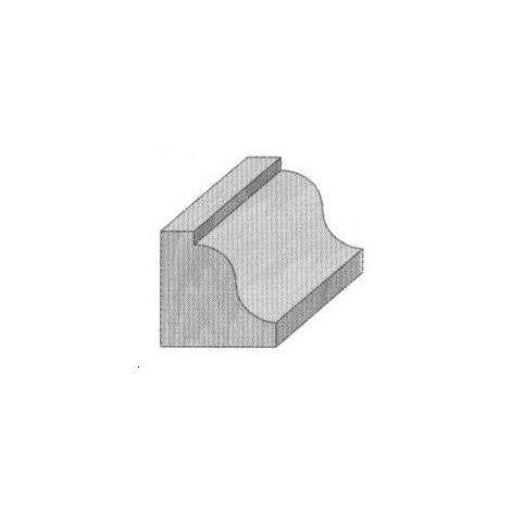Fraise de défonceuse Q8 - Moulure décorative Ø 38.1 - R6.4