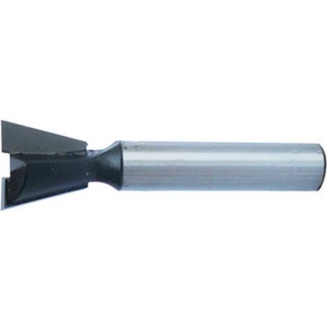 Fraise de queue d'aronde, Ø : 12,7 mm, Angle 14°, Long. utile 12 mm, Long. totale : 45 mm
