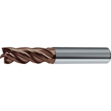 WilTec Fraise /à Queue 4 Dents KRO /Ø 8mm Longueur 35mm Cannelure Acier au Tungst/ène Haute Performance CN