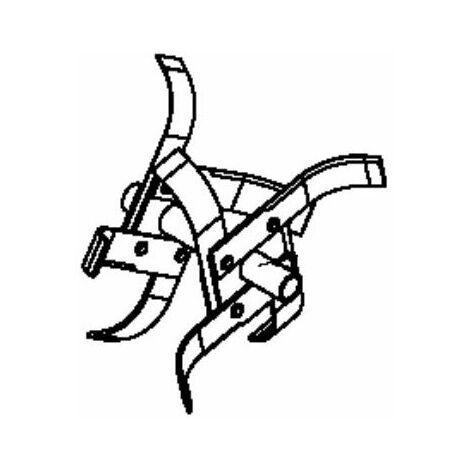 Fraise double départ droite motobineuse Husqvarna / Pubert