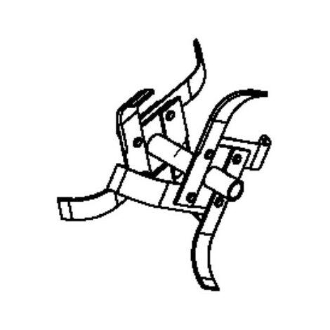 Fraise double départ gauche motobineuse Husqvarna / Pubert