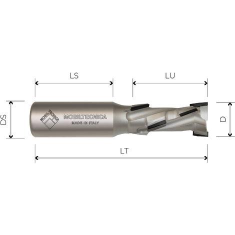 FRAISE HÉLICOÏDALE EN DIAMANT Z2+2 CORPS EN ACIER PCD H2, 5 mm - MOBILTECNICA