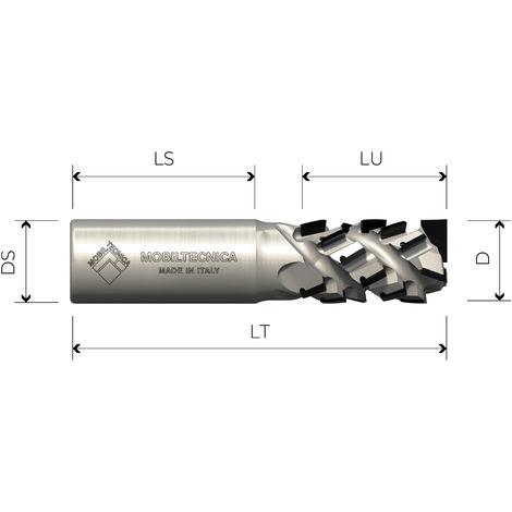 FRAISE HÉLICOÏDALE EN DIAMANT Z3+3 ANGLE AXIAL 30° CORPS EN ACIER PCD H4, 5 mm - MOBILTECNICA