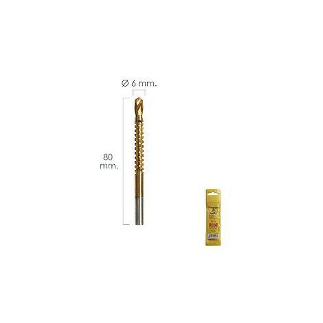Fraise rotative pour métaux HSS Ø 6 x 80 mm.Pour perceuse / fraiseuse 07040070