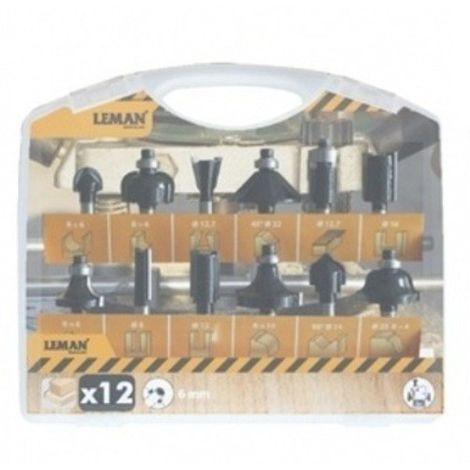 Fraises de défonceuse queue 6 mm en coffret de 12 profils !
