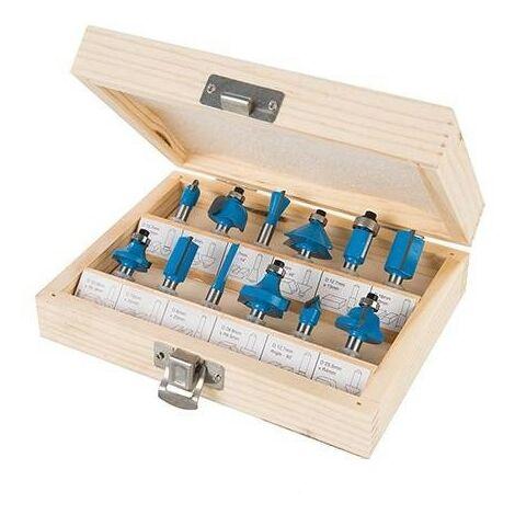 Fraises de défonceuse queue 8 mm en coffret de 12 profils !