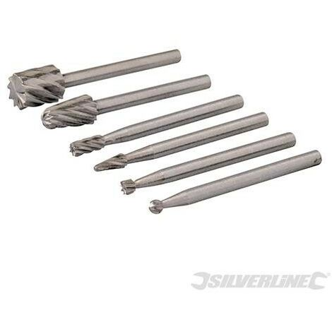 Fraises HSS pour outil rotatif, 6 pcs, ø 2, 3, 5, 7 mm