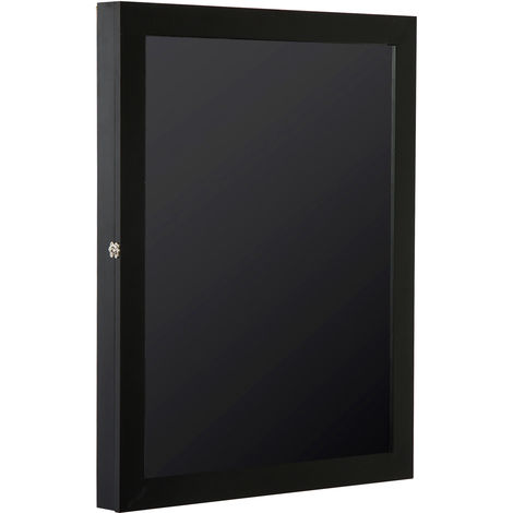 Frame box T-frame cadre nielsen cadre pour maillot porte acrylique doublure interne feutre 71L x 7l x 89H cm noir