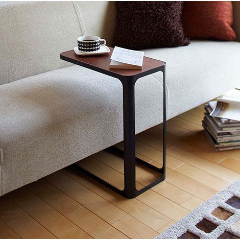 Frame Side Table Black and Darkwood