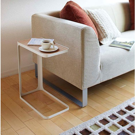 Frame Side Table White and Lightwood