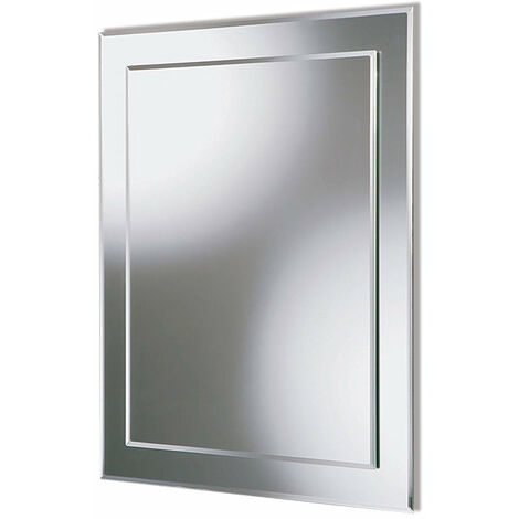 Frameless Large Wall Mirror Double Glasses Smooth edge Decorative