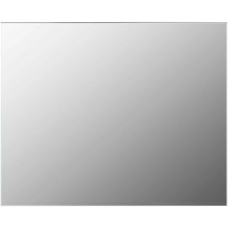 Frameless Mirror 100x60 cm Glass - Silver