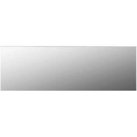 Frameless Mirror 120x30 cm Glass